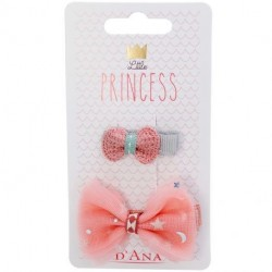 D'Ana - Little Princess lot de 2 barrettes nœuds