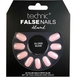 technic - Faux ongles Almond - Gloss Nude