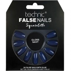 technic - Faux ongles Squareletto - Gloss Navy