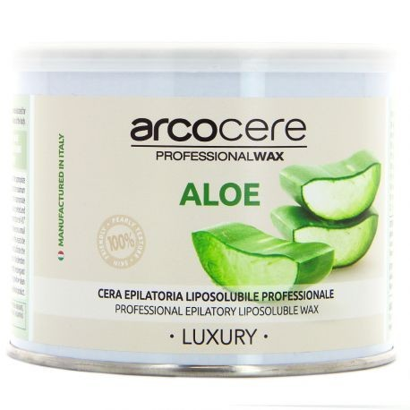 arcocere - Luxury Cire épilatoire professionnelle liposoluble Aloe - 400ml