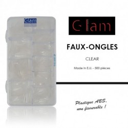 Glam Cosmetiques - Faux ongles clear - 500 pcs